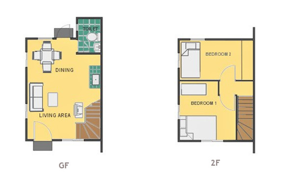 Mikaela Floor Plan House and Lot in Naic