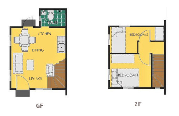 Ravena Floor Plan House and Lot in Naic
