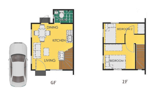 Reva Floor Plan House and Lot in Naic