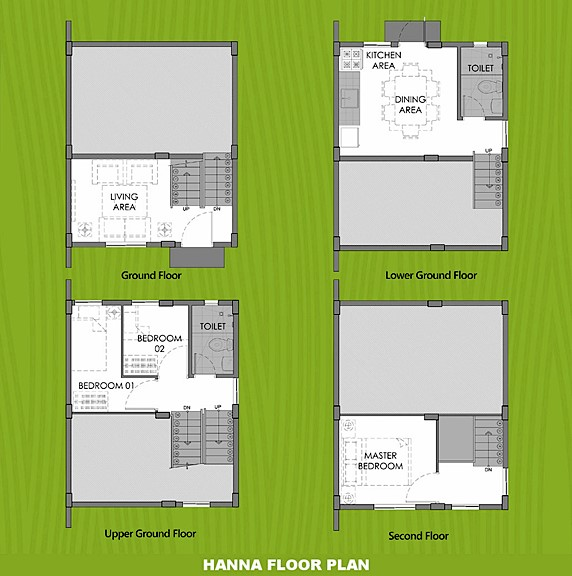 Hanna Floor Plan House and Lot in Naic