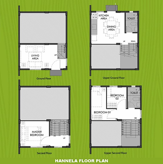 Hannela Floor Plan House and Lot in Naic