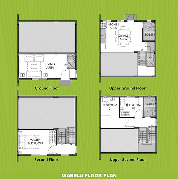 Isabela Floor Plan House and Lot in Naic