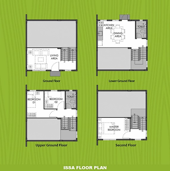 Issa Floor Plan House and Lot in Naic
