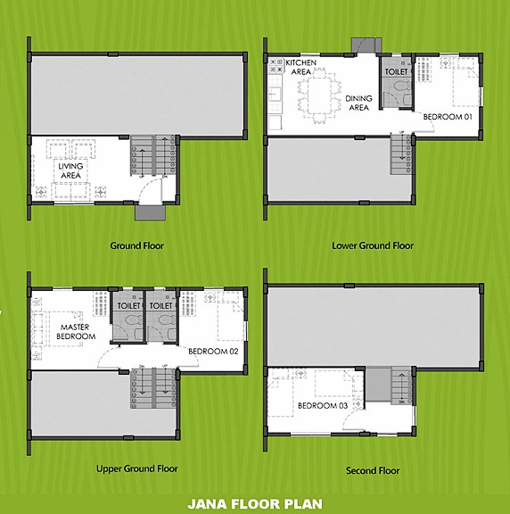 Janna Floor Plan House and Lot in Naic