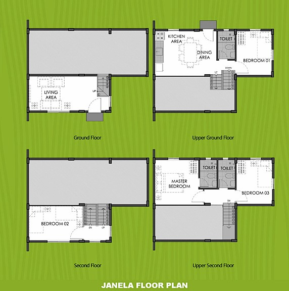 Janela Floor Plan House and Lot in Naic