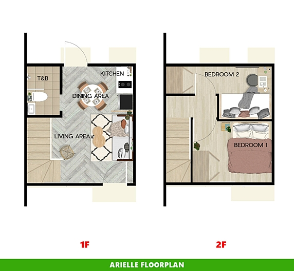 Arielle Floor Plan House and Lot in Naic