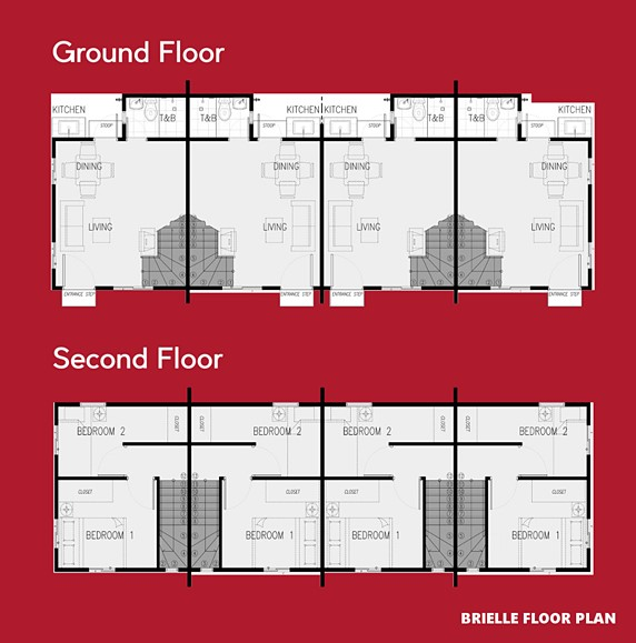 Brielle Floor Plan House and Lot in Naic