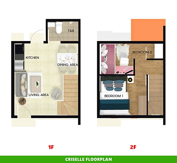 Criselle Floor Plan House and Lot in Naic