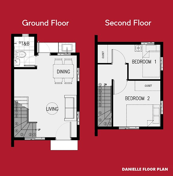 Danielle Floor Plan House and Lot in Naic