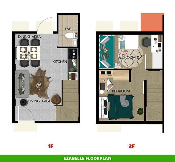 Ezabelle Floor Plan House and Lot in Naic