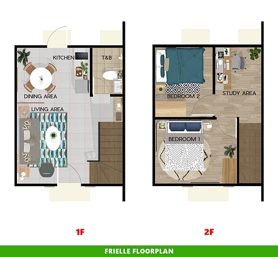 Frielle Floor Plan House and Lot in Naic